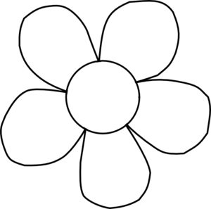black and white daisy with child of god printed in middle and framed rh pinterest com Simple Flower Outline black outline flower clipart