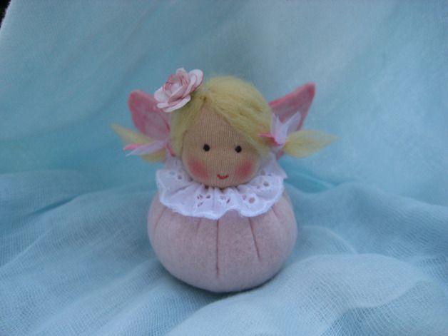 Kleines Schutz- Engelchen in rosa - Blumenkinder-Unikate