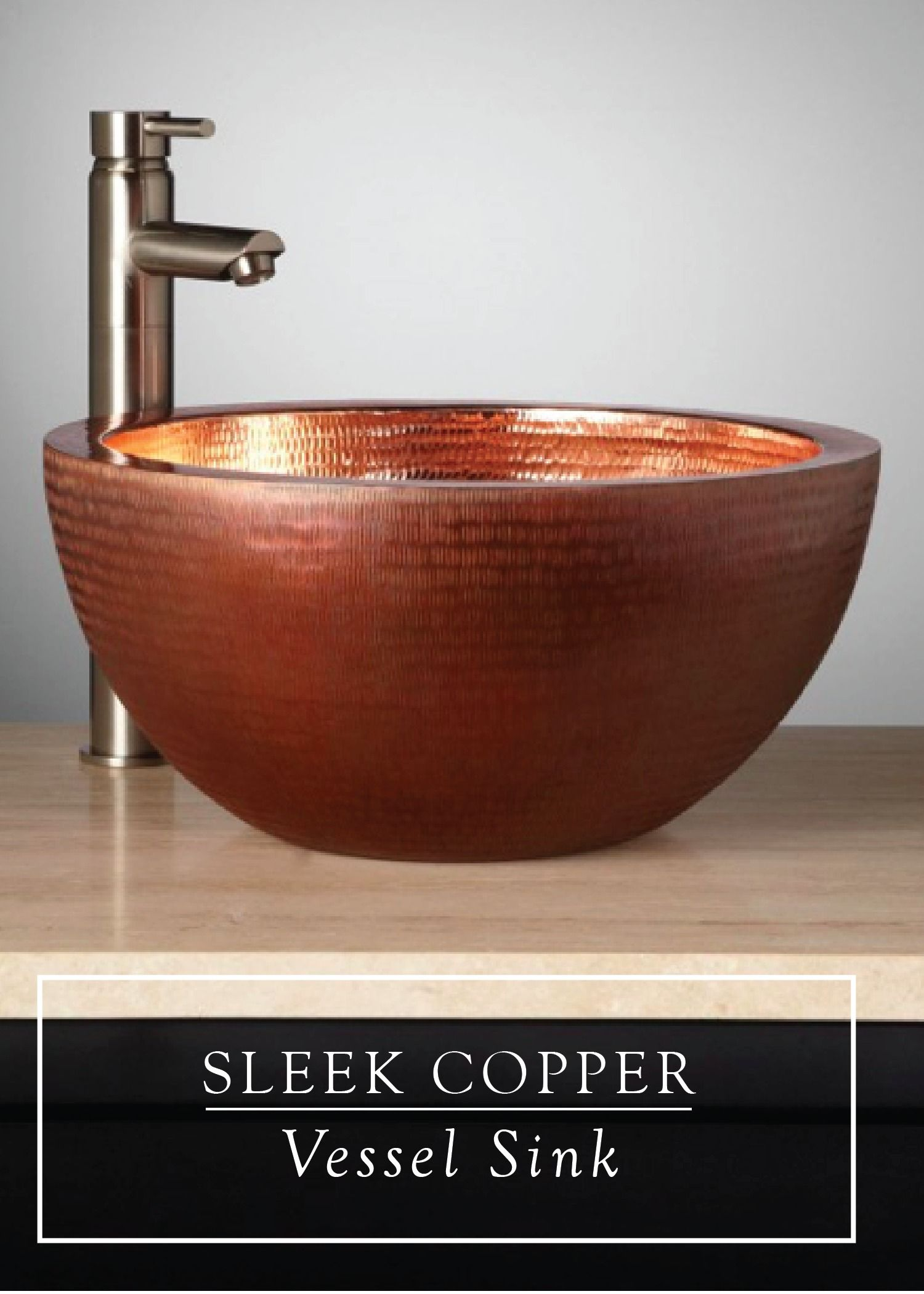 A Showstopper For Your Bathroom This Copper Vessel Sink Has A Radiant Glow And Subtle Texture Copper Vessel Sinks