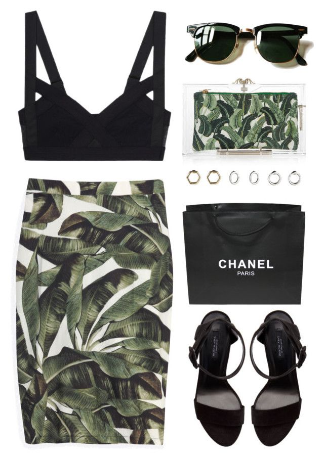 """tropical elegance"" by maartinavg ❤ liked on Polyvore featuring mode, Topshop, Charlotte Olympia, Zara, Ray-Ban, ADRIANA DEGREAS et Chanel"