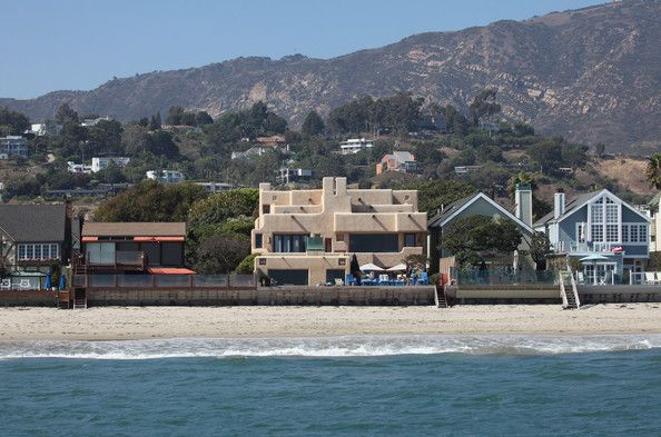 The Malibu beach home of Sting.