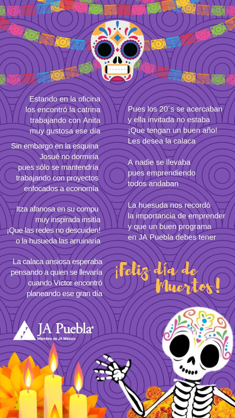 Que Bonita Tradicion Mexicana Diademuertos En Japuebla Compartimos Esta Calavera Calaveras Literarias Calaveras Literarias Mexicanas Calaveritas Mexicanas