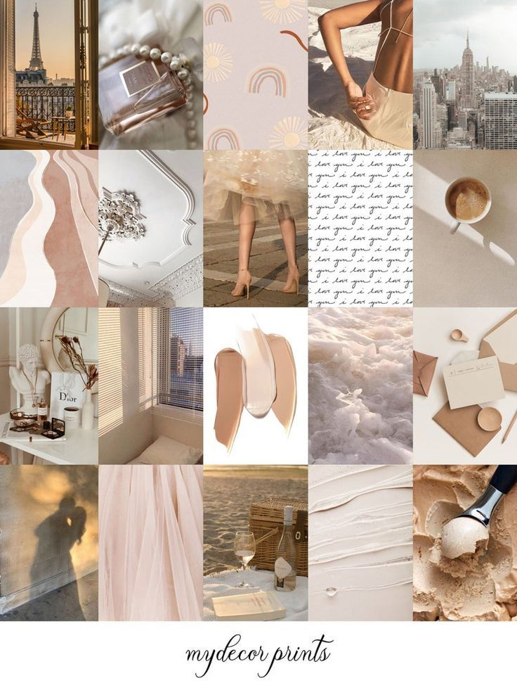 Boujee Boho Aesthetic Wall Collage Kit Digital Download   Etsy