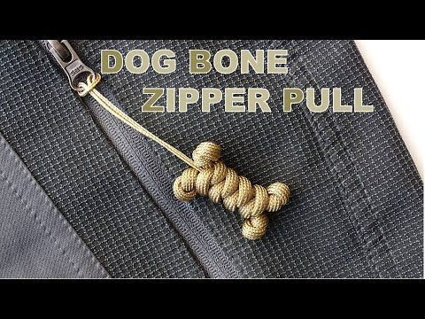 How to Make a Dog Bone Paracord Zipper PullKeychainSnake KnotCBYS Paracord Tutorialbone