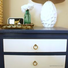 White And Navy Painted Furniture