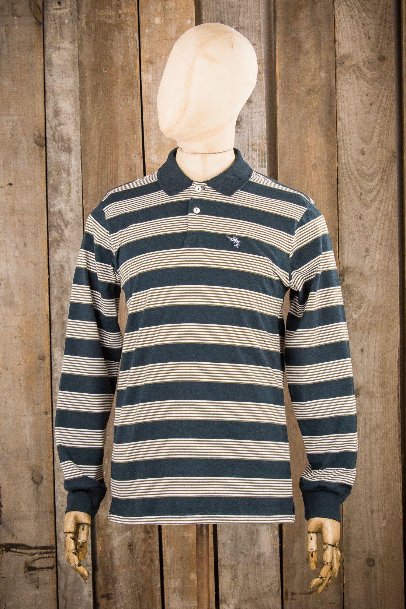 The Dark Seas Jib Ls Polo Shirt Is A Loose Fit Long Sleeve Polo