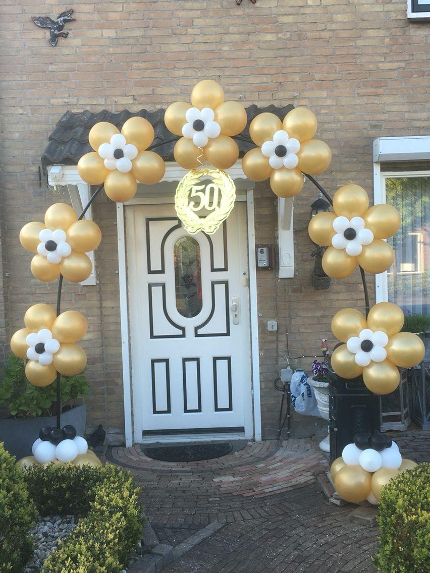 versieringen voor 50 jarig huwelijk Boog 50 jaar getrouwd | deciraciones de fiesta con luces  versieringen voor 50 jarig huwelijk