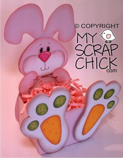 Easter bunny belly box click to enlarge p scoa - Flor de pascua en goma eva ...
