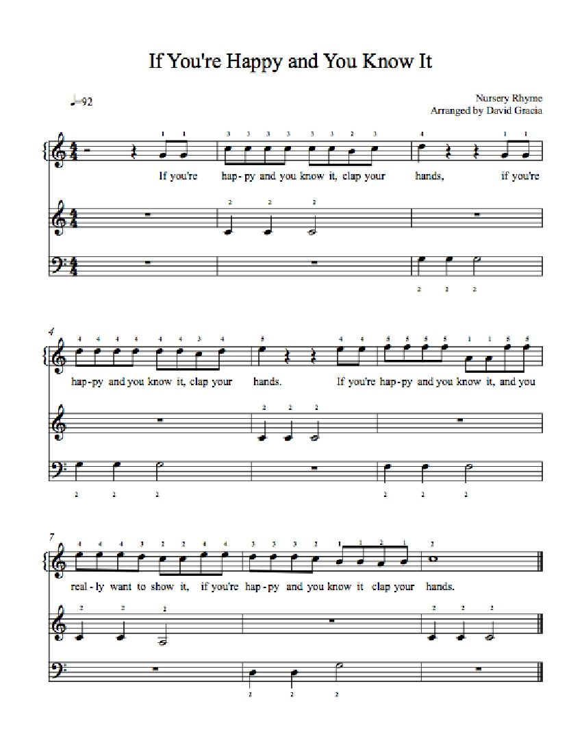 If You Re Hy And Know It By Nursery Rhyme Piano Sheet Music