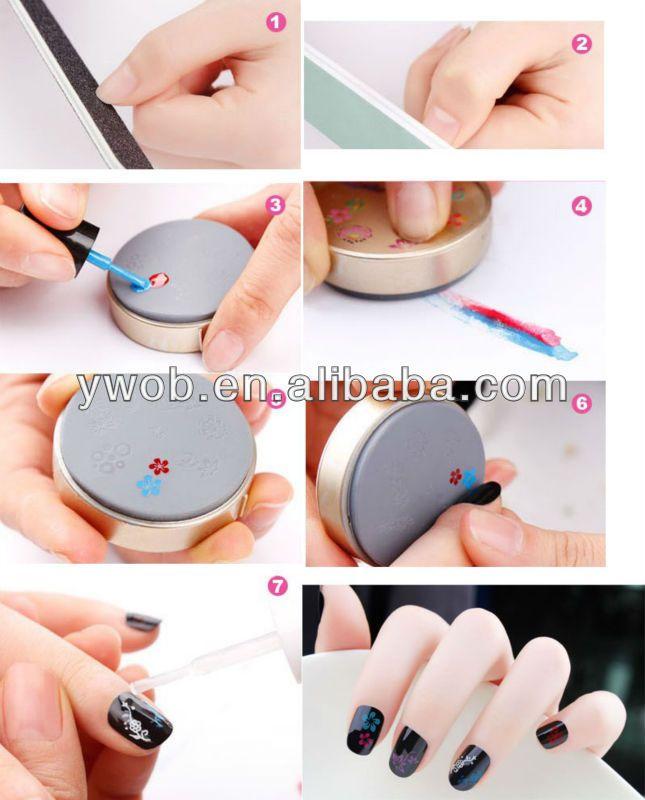 Nail Art Colors Drawing Polish Kit Stamper DIY Printer Nail Stamping ...