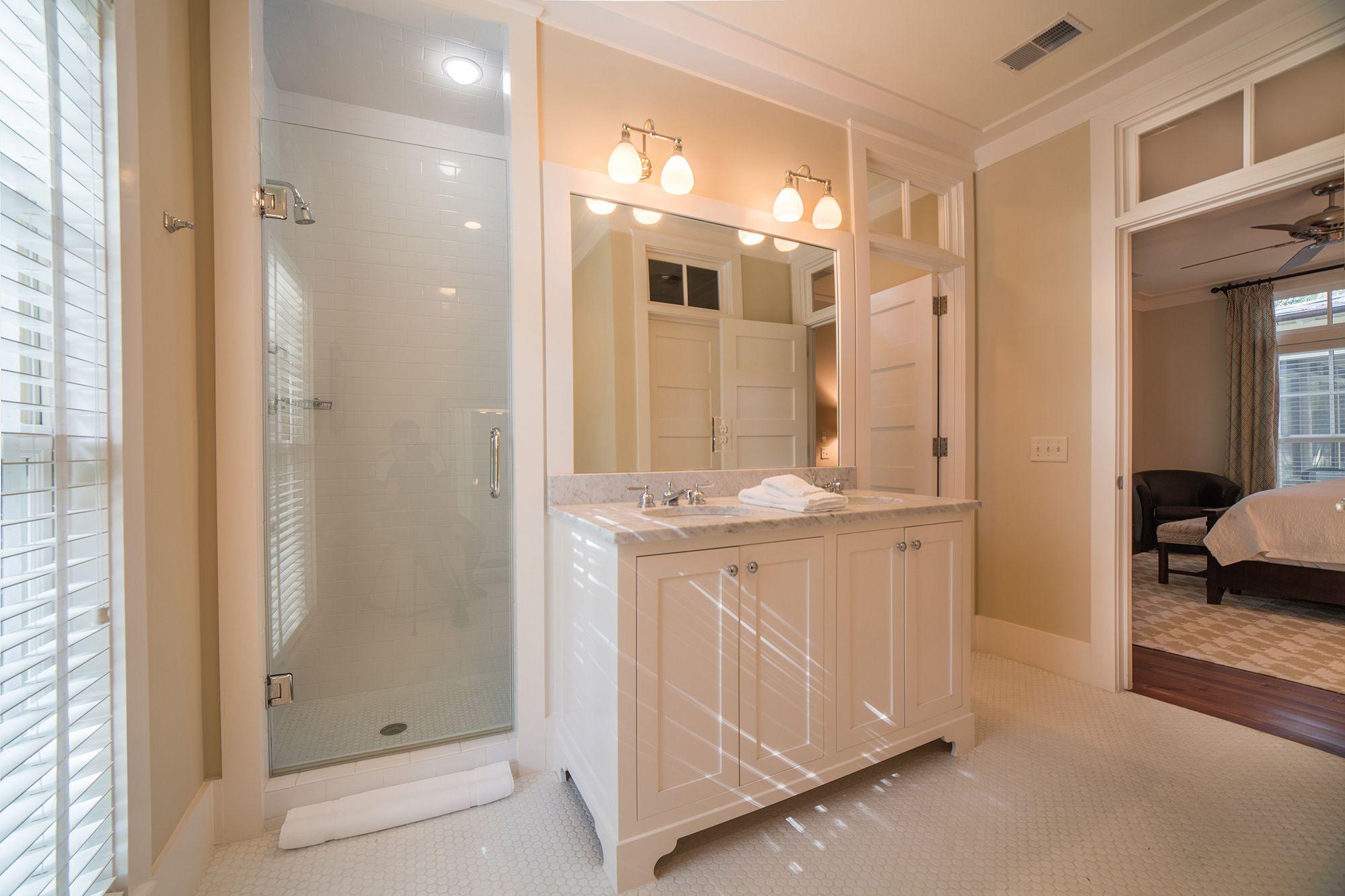 Luxurious White Master Bathroom