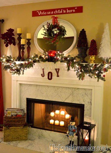 christmas-mantel-decorations-11 - All About Christmas Christmas