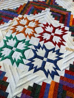 Green Fairy Quilts: Bonnie's Quilt all finished!! patterns from Trudie Hughes