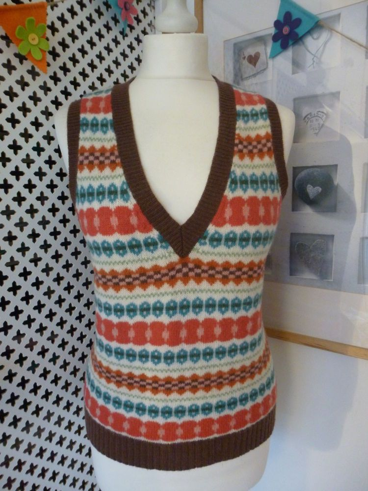 Boden land girl style Fair Isle tank top   Style on a Shoestring ...