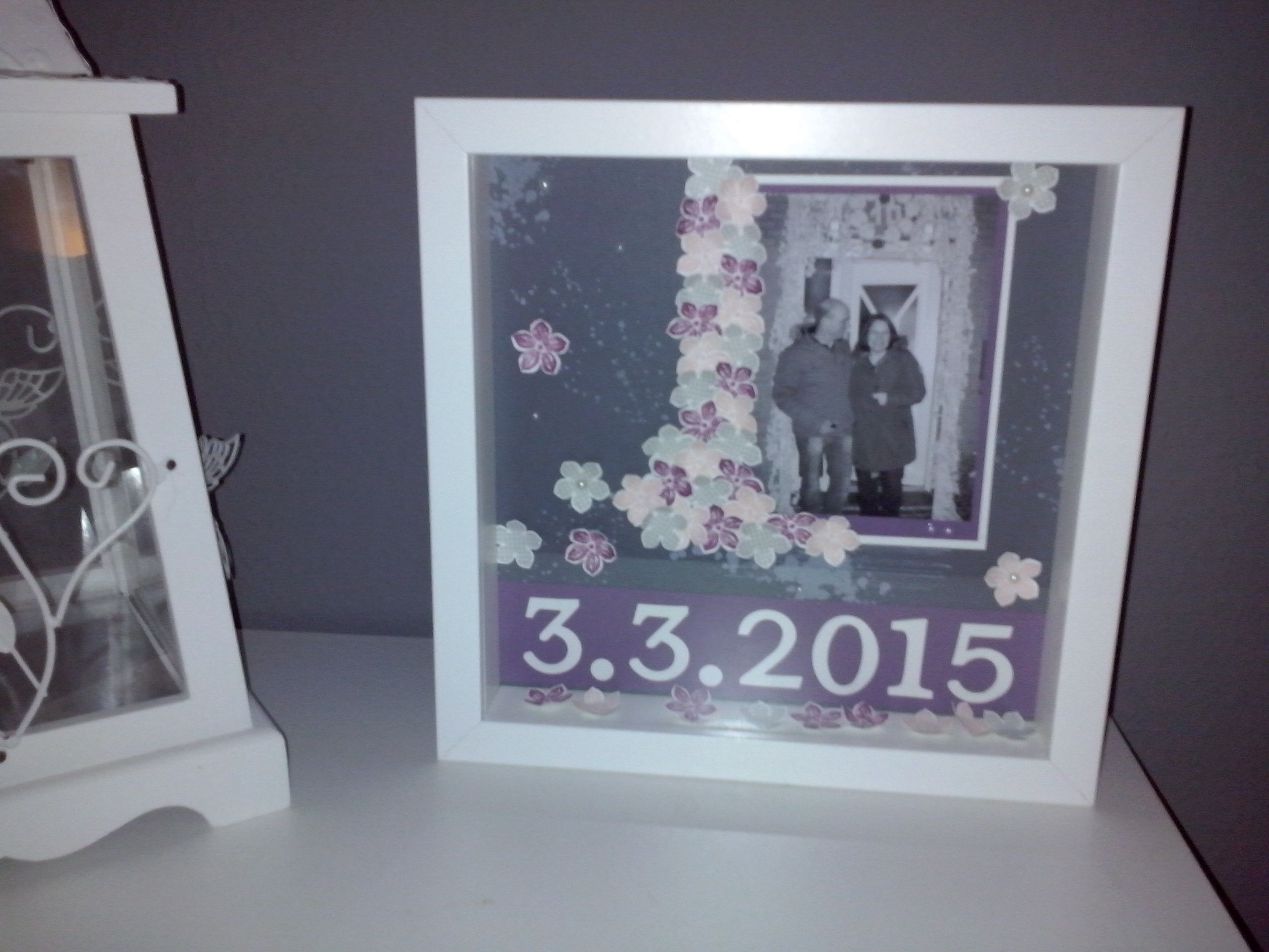 stampin up scrapbook Page Picture Frame (Ikea ribbon) with Petite ...