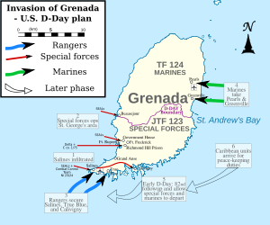 Invasion Of Grenada Wikipedia The Free Encyclopedia Maps - Map of grenada world