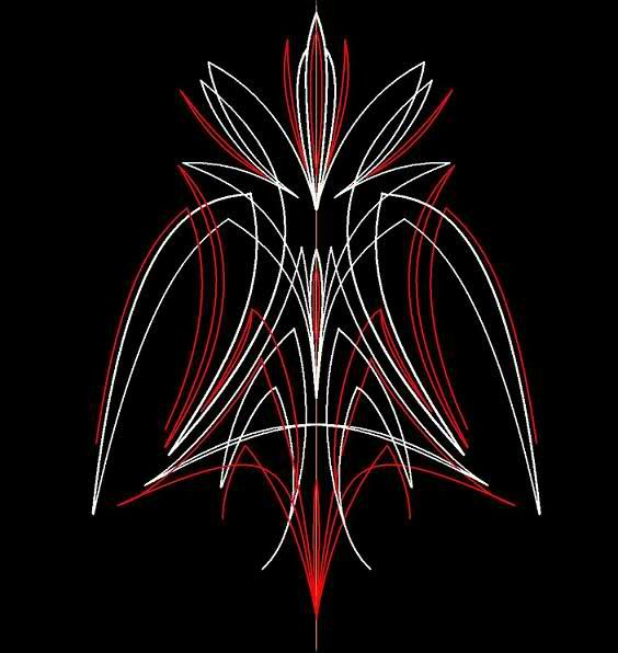 Vector Pinstripe Designs Cars On Pinstripe Flower Tattoo - Vinyl stripes for motorcyclesmetric cruiser motorcycle graphics decals roadstar fury vstar road