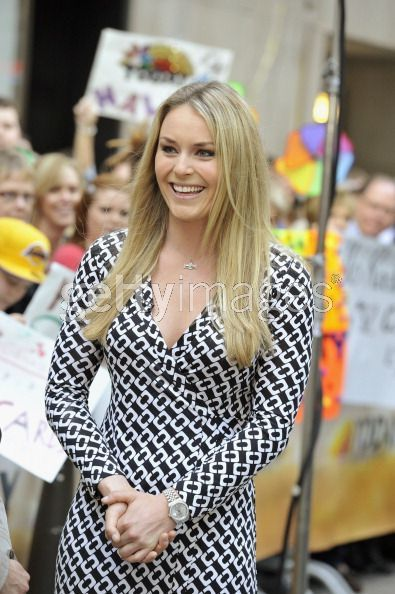 Lindsey Vonn In Diane Von Furstenberg Dvf Chain Link Jeanne Wrap Dress Gotta Love It Fashionable Too