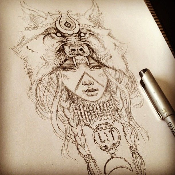 Wolf Headdress Tattoo Idea Tatto