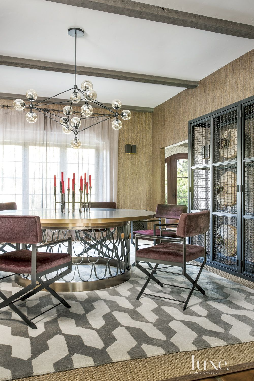 Spanish Colonial Dining Room With Director S Chairs