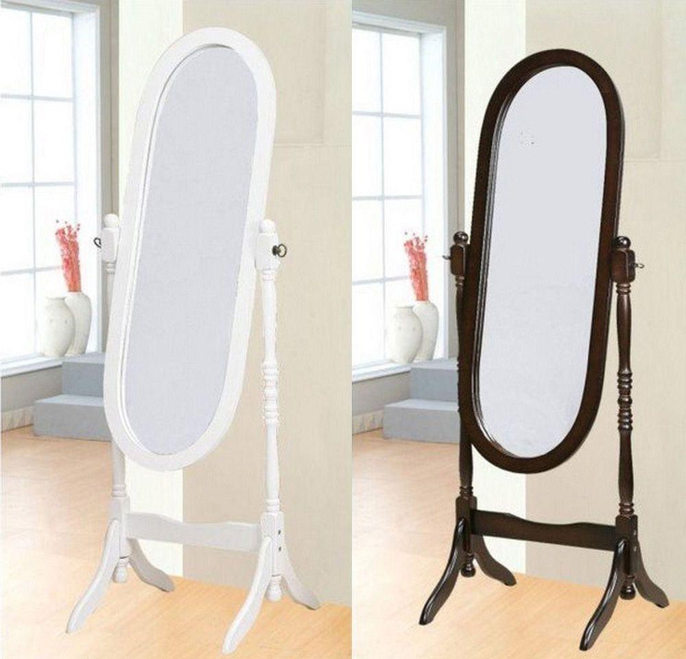 Details zu Standspiegel Ankleidespiegel Spiegel aus Holz Antik Oval ...