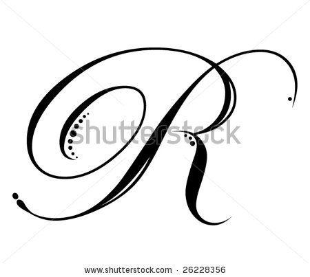 script fonts letter r images