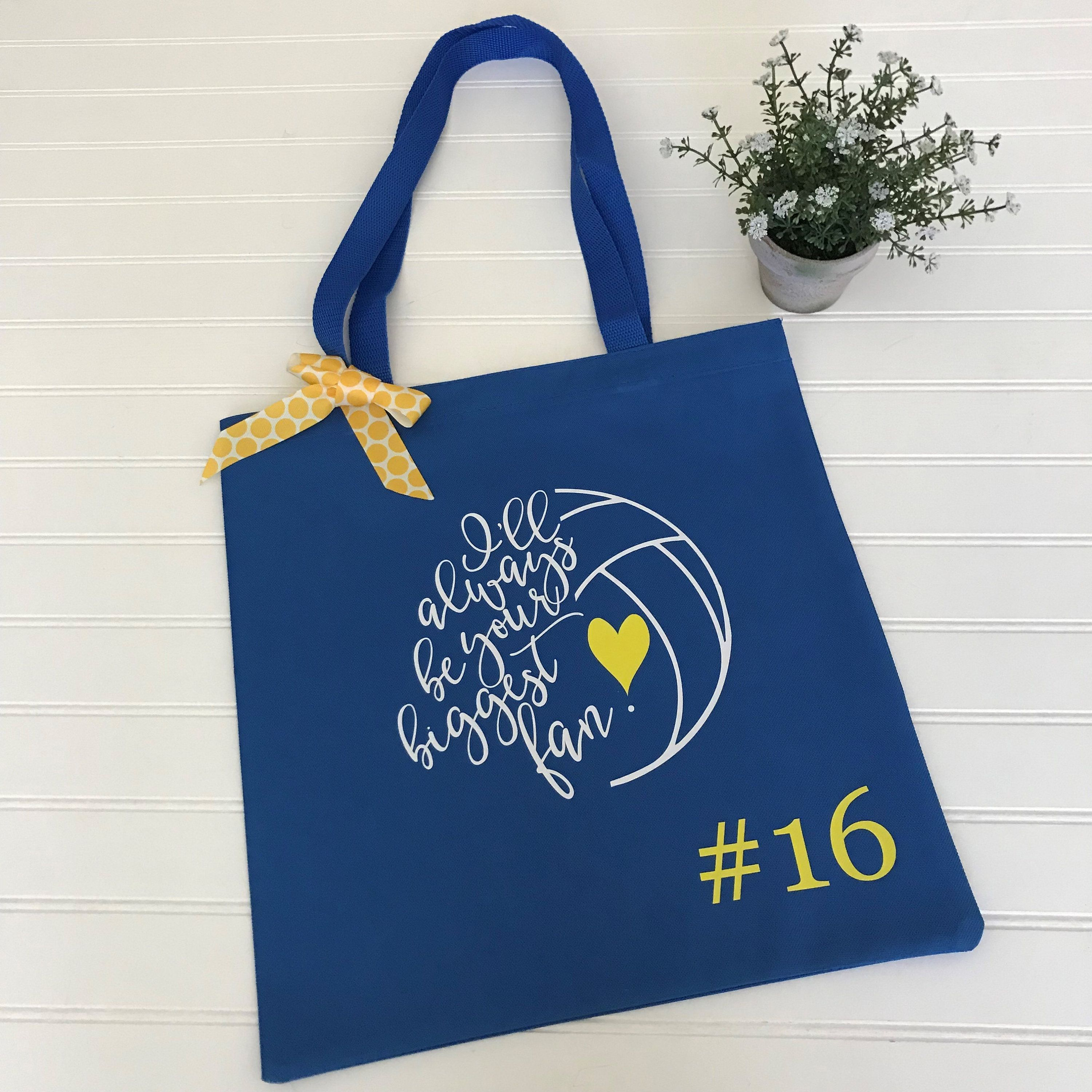 Volleyball Tote Bag Custom Volleyball Tote Personalized With Number Your Team Colors Volleyball Gift Volleyball Mom Tote Custom Team Bags Large Canvas Tote Bags Clear Tote Bags Best Tote Bags