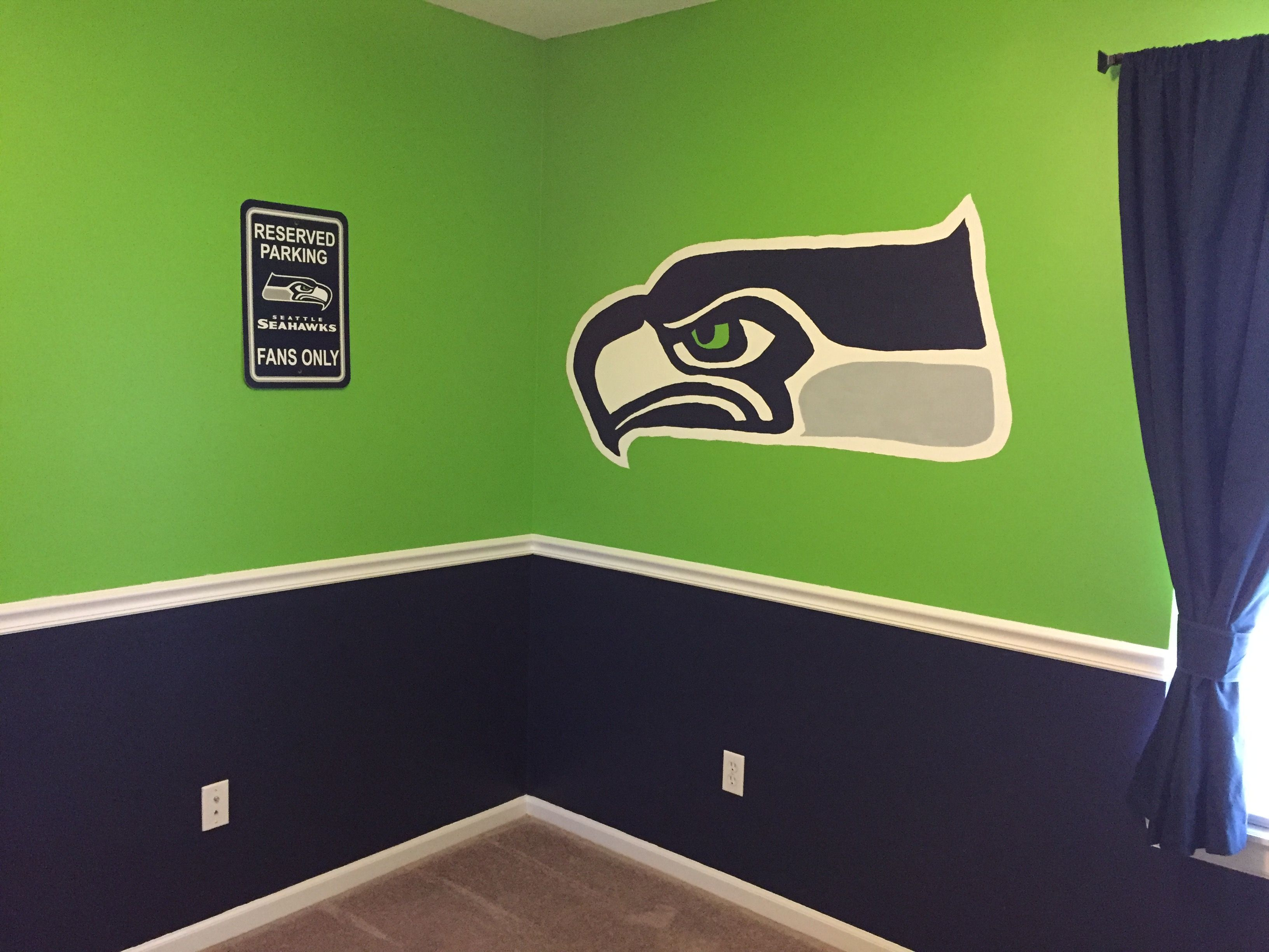 Seahawks Bedroom Paint Scheme Seahawks In 2019 Boy