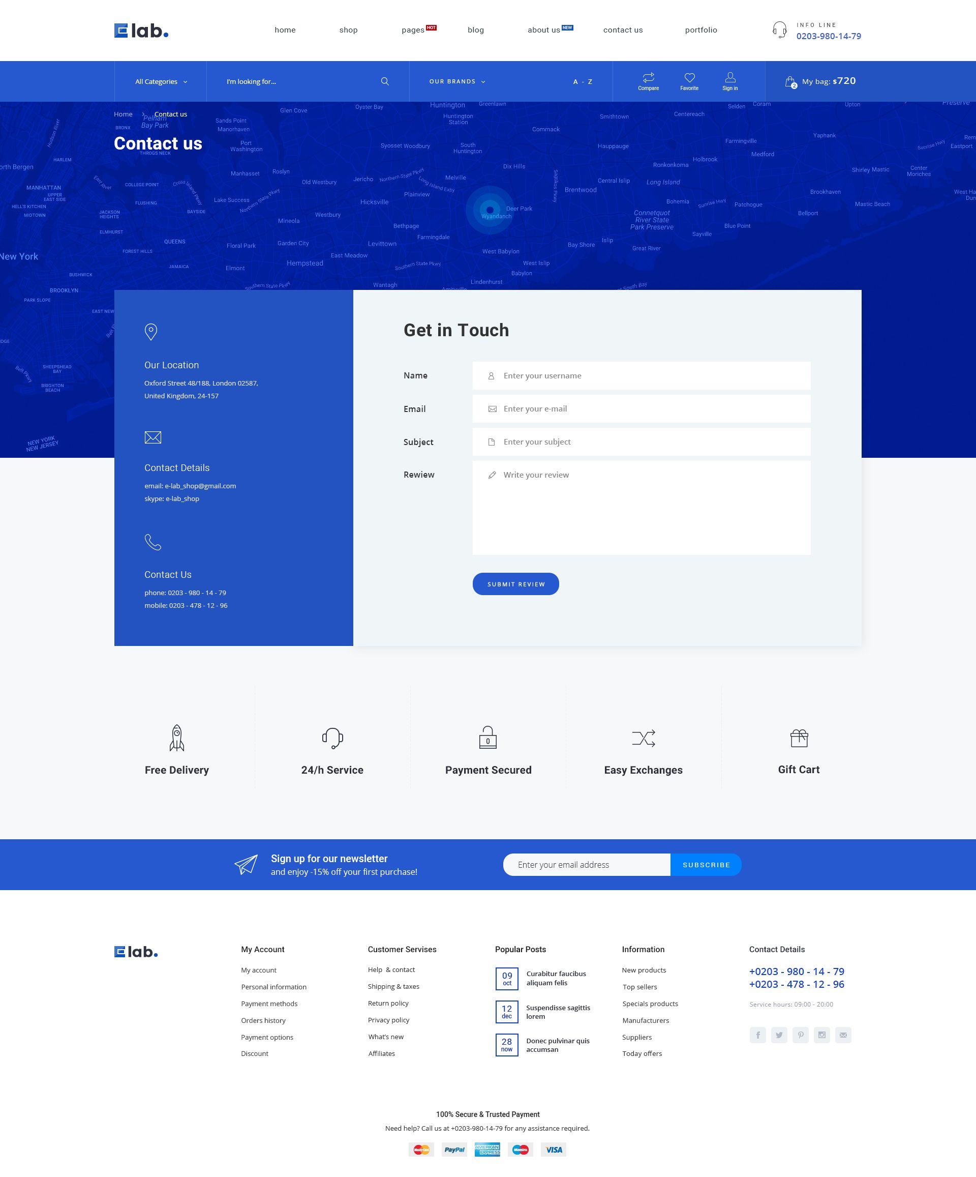 E Lab Ecommerce Psd Template Ecommerce Lab Template Psd Simple Web Design Form Design Web Contact Us Page Design