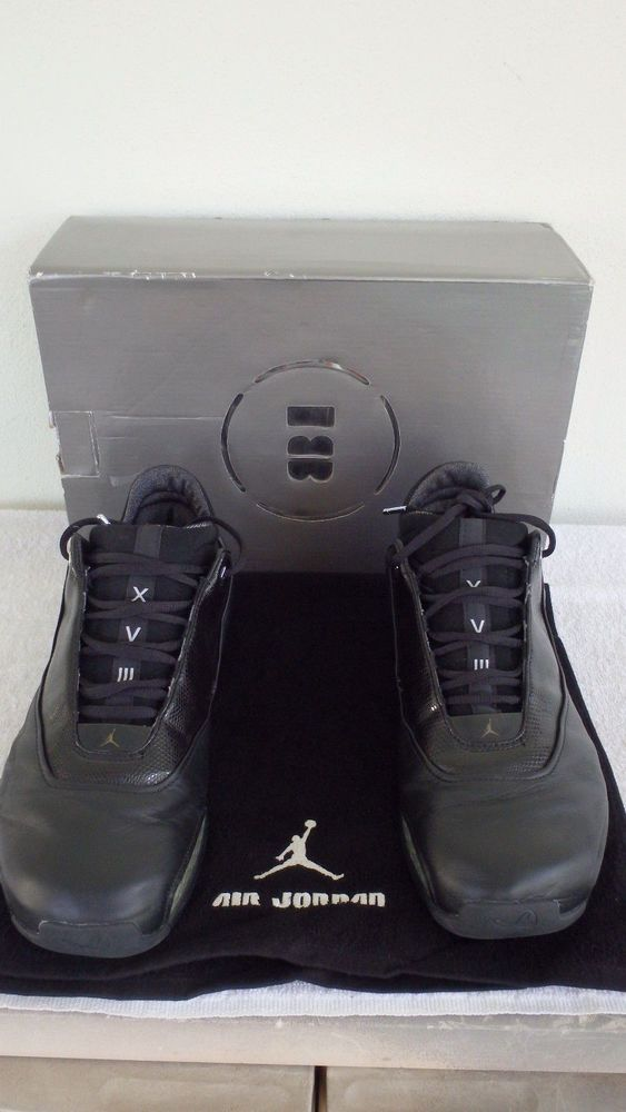 0d7cc7042457fd  306151-001  2003 Nike Air Jordan 18 XVIII Low Black Chrome Silver Sz 10.5  VNTG  Nike  BasketballShoes