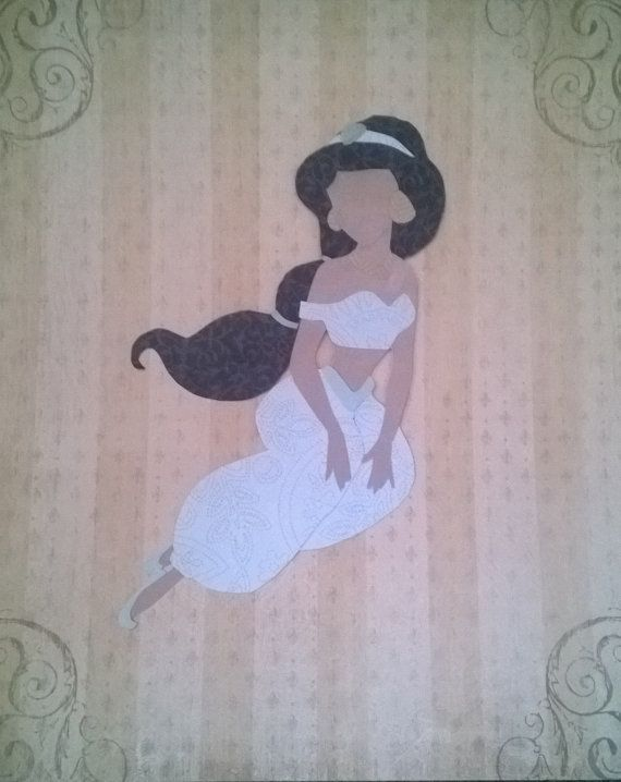 Princess Jasmine Paper Silhouette by TheArtDressBoutique on Etsy