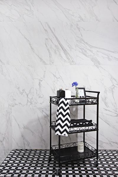 Tile -Sangah's - BERNINI 60x120 블랙앤화이트가 어우러진 공간으로 욕실을 연출한다면 이런 느낌이 나지 않을까?? #tile #tiles #Sangahtile #intetior #design #marble #ceramic #bathroom#living #style #shop #타일 #수입타일 #바닥타일 #공간 #수건 #욕실 #카트 #디스펜서 #쇼룸 #전시장 #상아타일 #신제품 #홈 #디스플레이