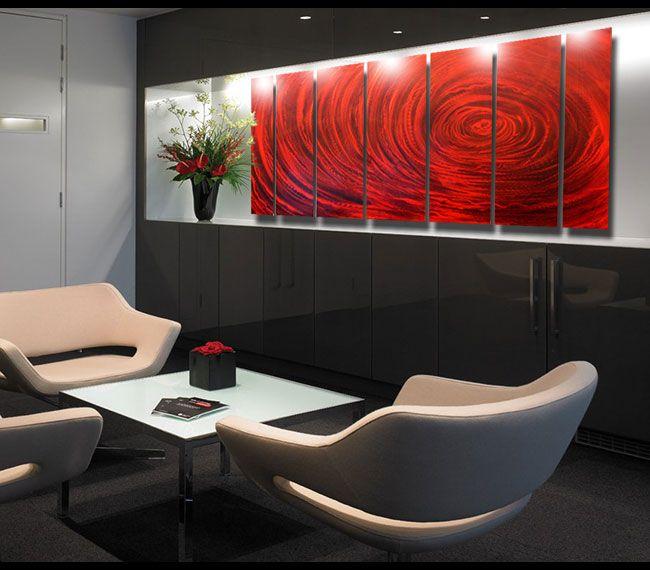 Modern Dining Room Decor - Red metal wall #sculpture ...