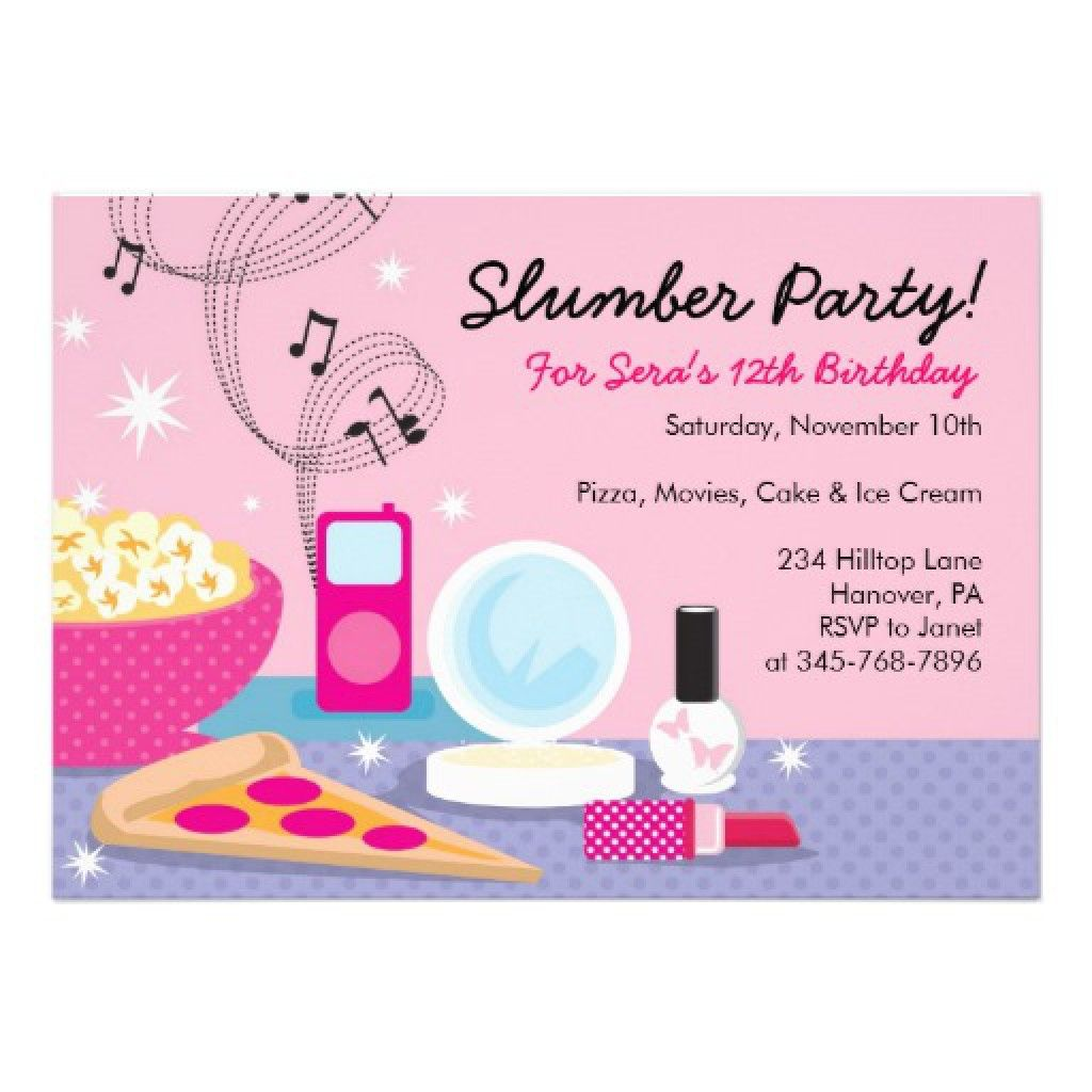 Free Slumber Party Invitation Template 2 birthday – Free Printable Slumber Party Invitation Templates