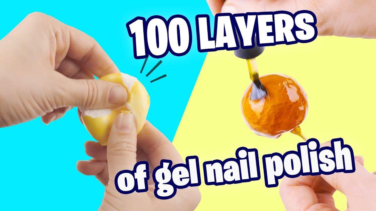 100 Layers Of Gel Nail Polish On Crackle Balls For Asmr In 2020 Nail Polish Gel Nails Gel