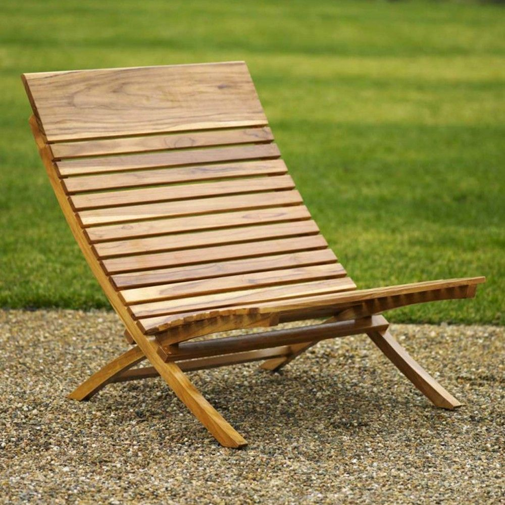 Folding Chair Made From Sustainably Grown Laotian Teak Modern Outdoor Chairs Outdoor Chairs Outdoor Furniture