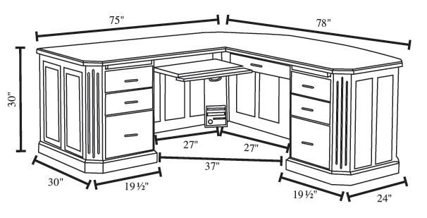 Image Detail For Fifth Avenue Executive Corner Desk