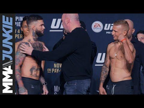 Mma Ufc 217 Ceremonial Weigh In Cody Garbrandt Vs T J Dillashaw Cody Garbrandt Ufc Ufc News