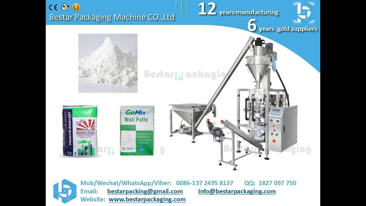 Bestar Industry Use Vffs Auto Feeding Wall Putty Powder Machine With Aug Bestar Packaging Machine Industrial Packaging