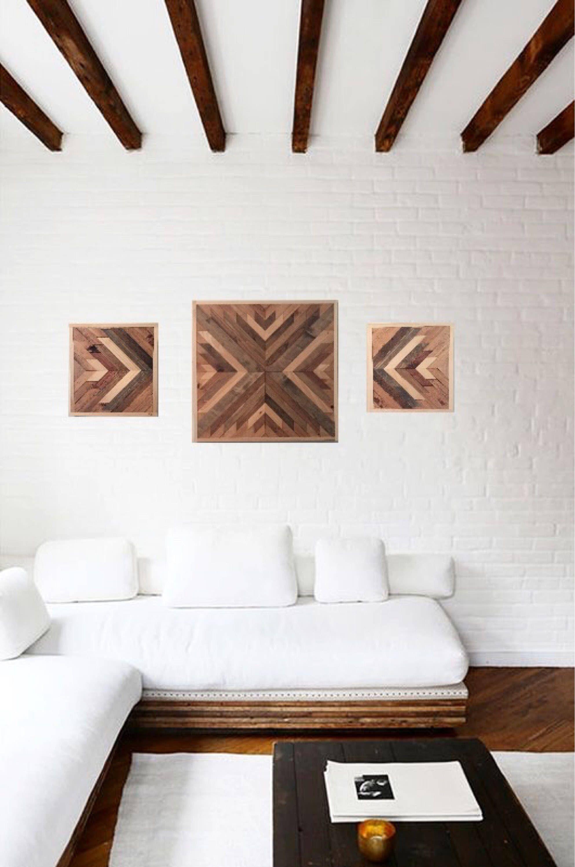 Reclaimed wood wall art wood wall decor farmhouse decor rustic