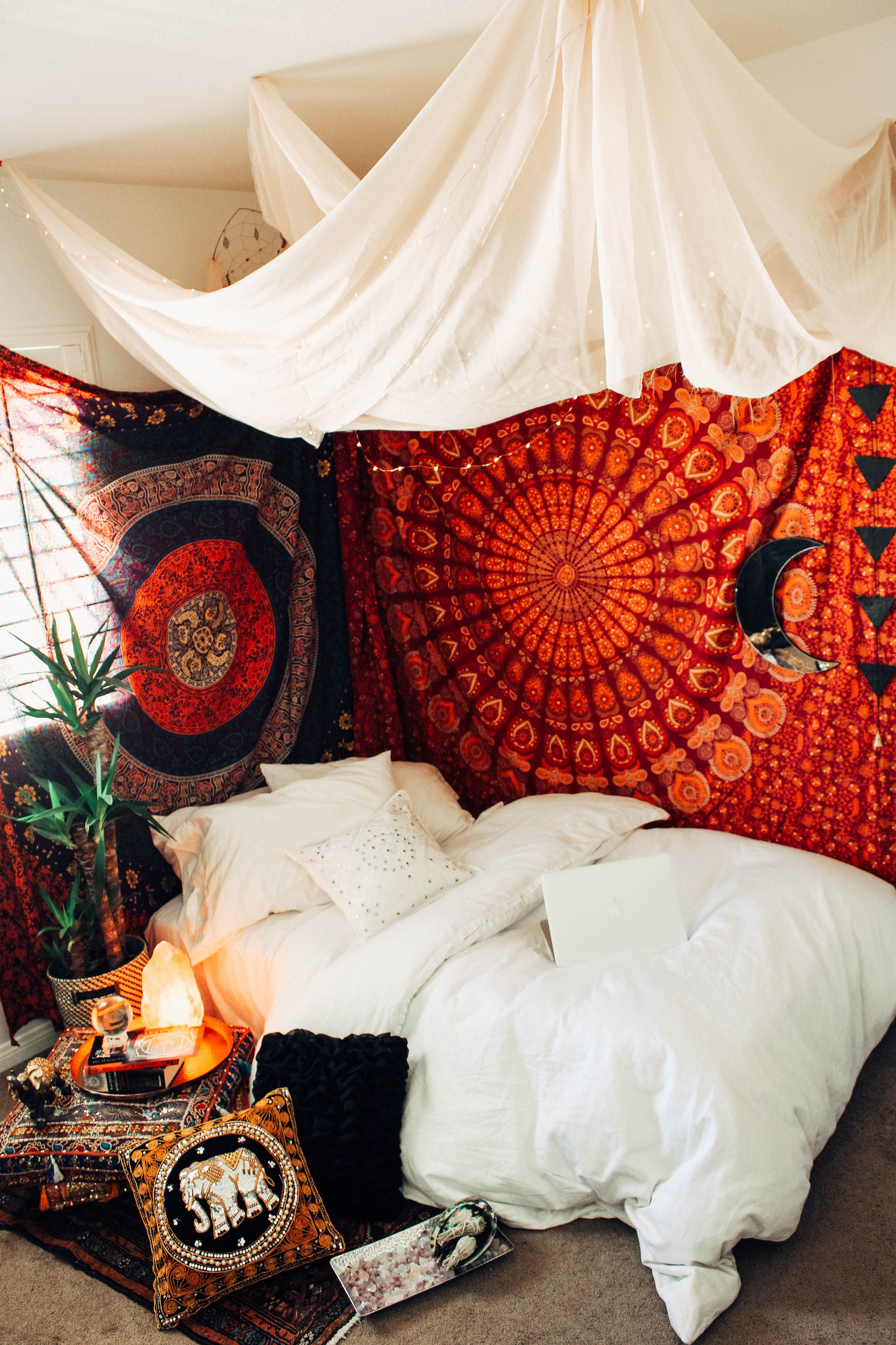 exciting bedroom style bohemian bedding | Chakra Box | Chakra, Bungalow and Bohemian