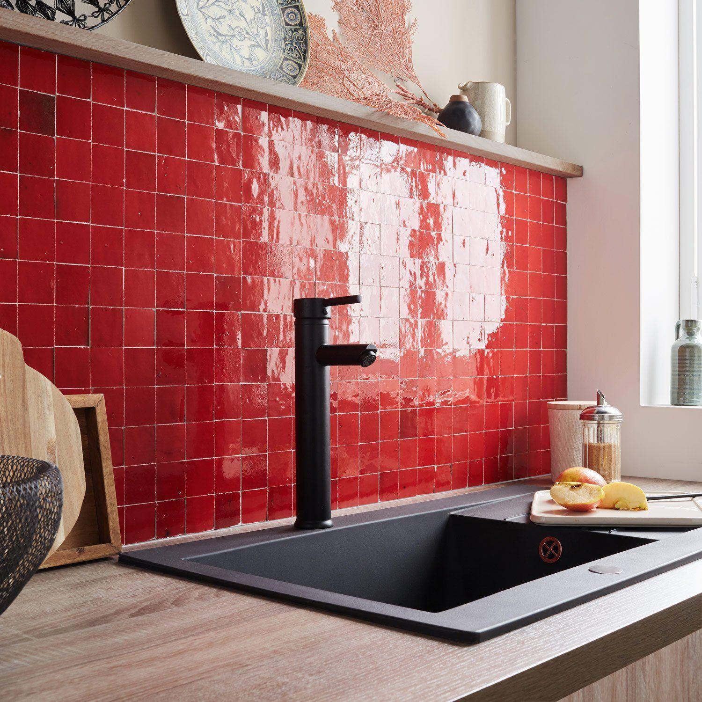 Passion Zellige Petit Carreau Maxi Effet En 2020 Zellige Carrelage Mural Carrelage Rouge