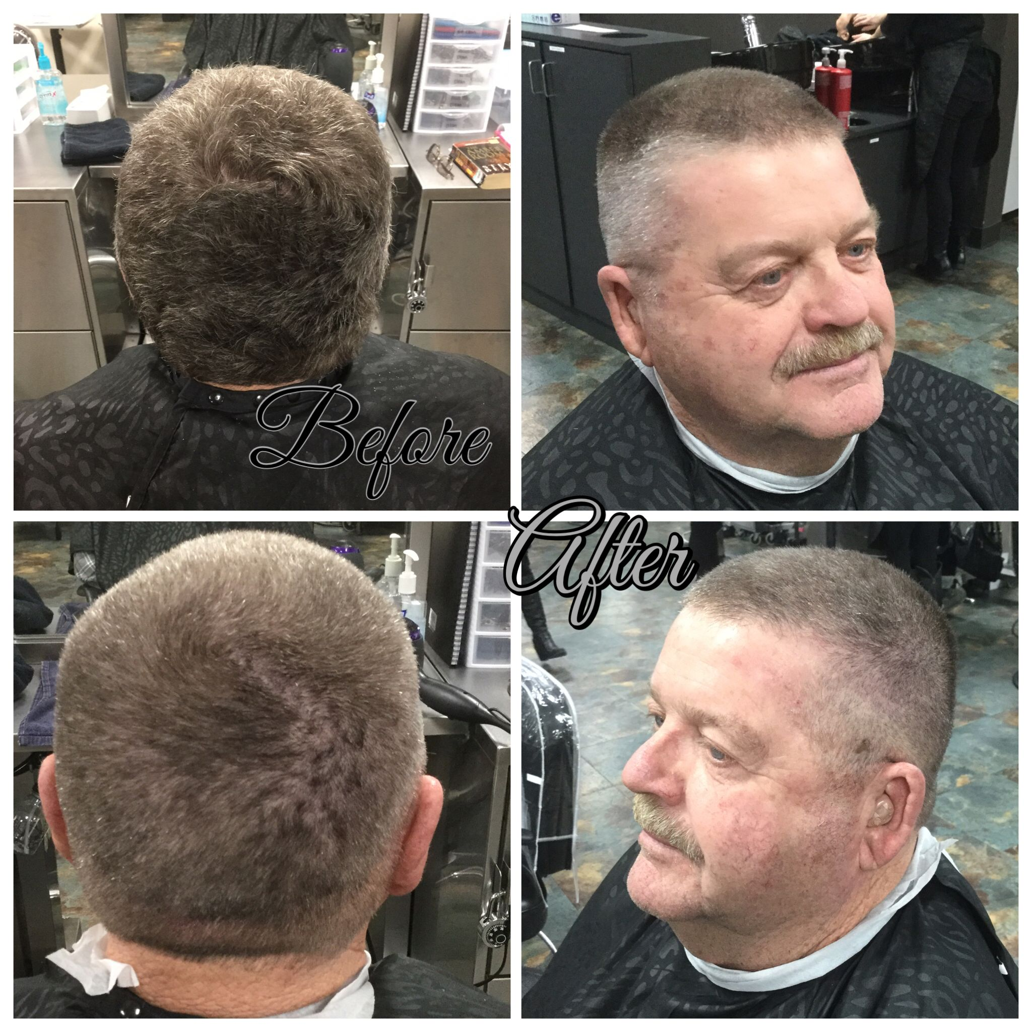 Haircut With 1 Guard On Sides And 2 Guard On Top Blended Using