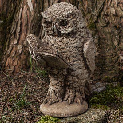 Campania International, Inc Scholarly Owl Statue Color: Travertine