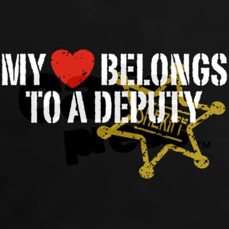 My Heart Belongs to a Deputy Women's Dark Women's Classic T