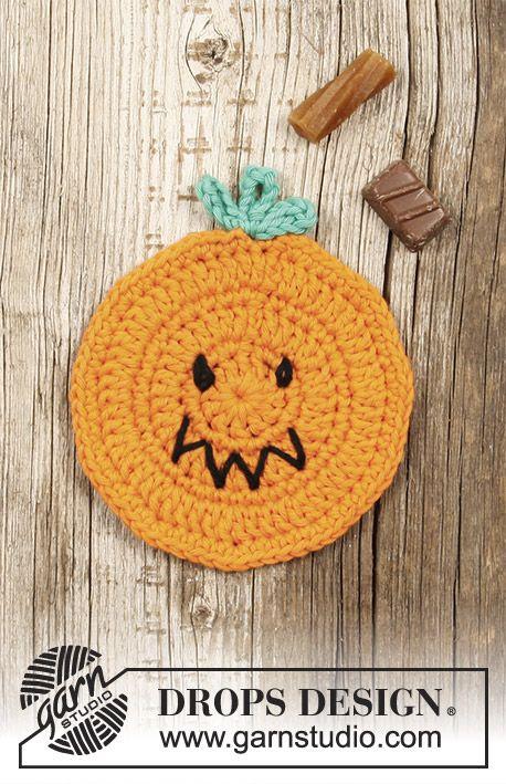 Pumpkin Latte / DROPS Extra 0-1389 - Gehäkelter Untersetzer mit ...