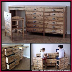 Diy Hidden Desk Faux Apothecary Cabinet Hidden Desk