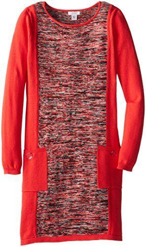 kc parker Big Girls' Long Sleeve Cotton Sweater Dress, Coral Hibiscus, 14/16 kc parker http://smile.amazon.com/dp/B00LJUZ4G0/ref=cm_sw_r_pi_dp_z.Whvb0DVTVNE