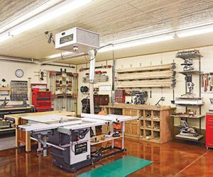 When Iowa Woodworker Rod Cox Added A Workshop To The Back Of His Cramped Two Car Garage Old He Had One Thing In Mind Elbow Room