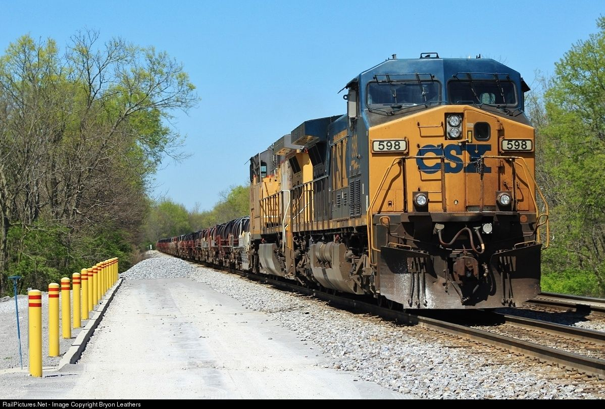 Net Photo CSX 598 Transportation CSXT GE AC4400CW At Danville Kentucky By Bryon Leathers